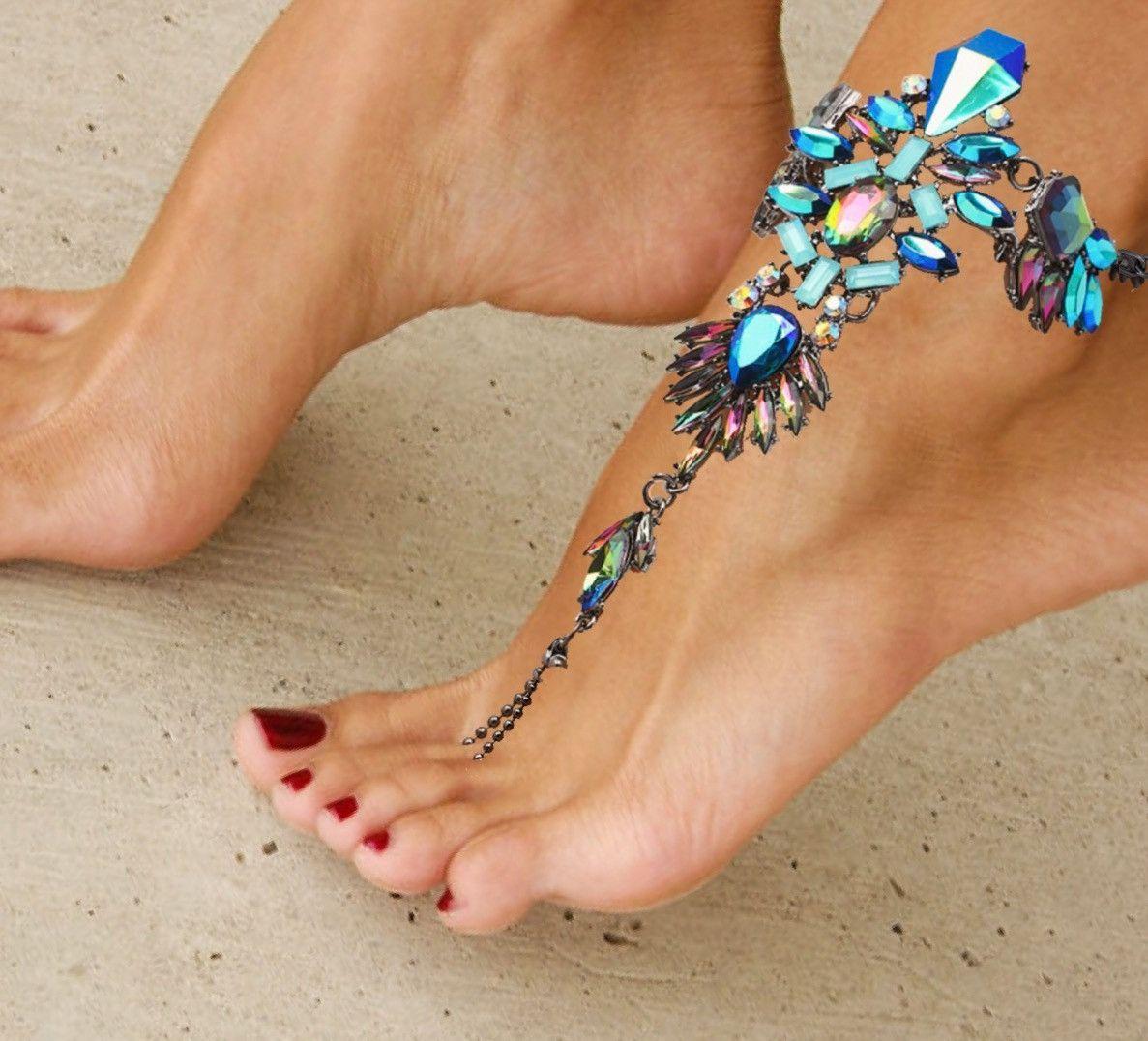 Bridal Shoes Boho: Bare Foot Sandals, Barefoot