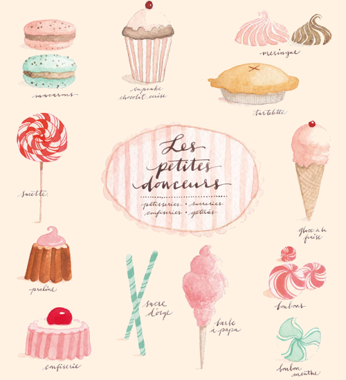 Oh So Darling Color Palette French Pastry Themed