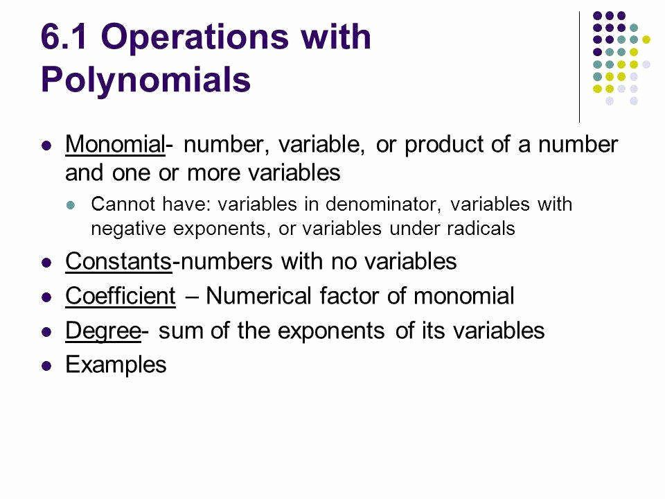 50 Operations With Polynomials Worksheet In 2020 Polynomials