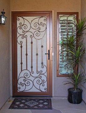 Security Screen Doors - mediterranean - screen doors - phoenix - First Impression Security Doors & Security Screen Doors - mediterranean - screen doors - phoenix ...