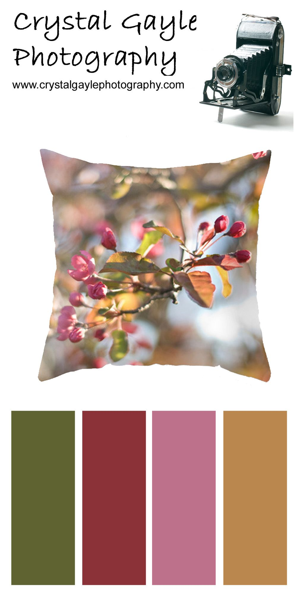 Spring Floral Pillow Cover Victorian Sofa Home Decor Pink