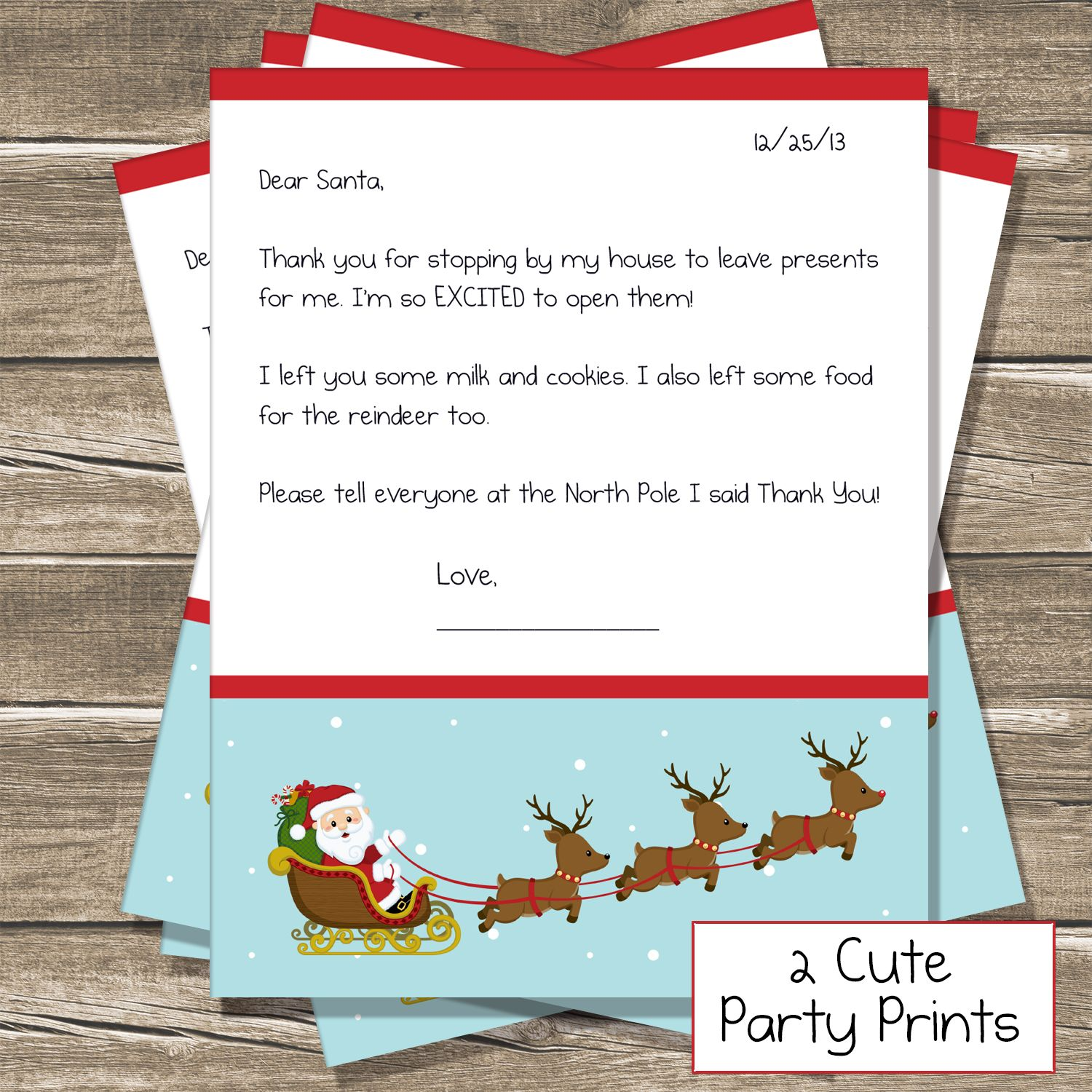 Today on the blog I have a cute little letter the kids can leave for ...