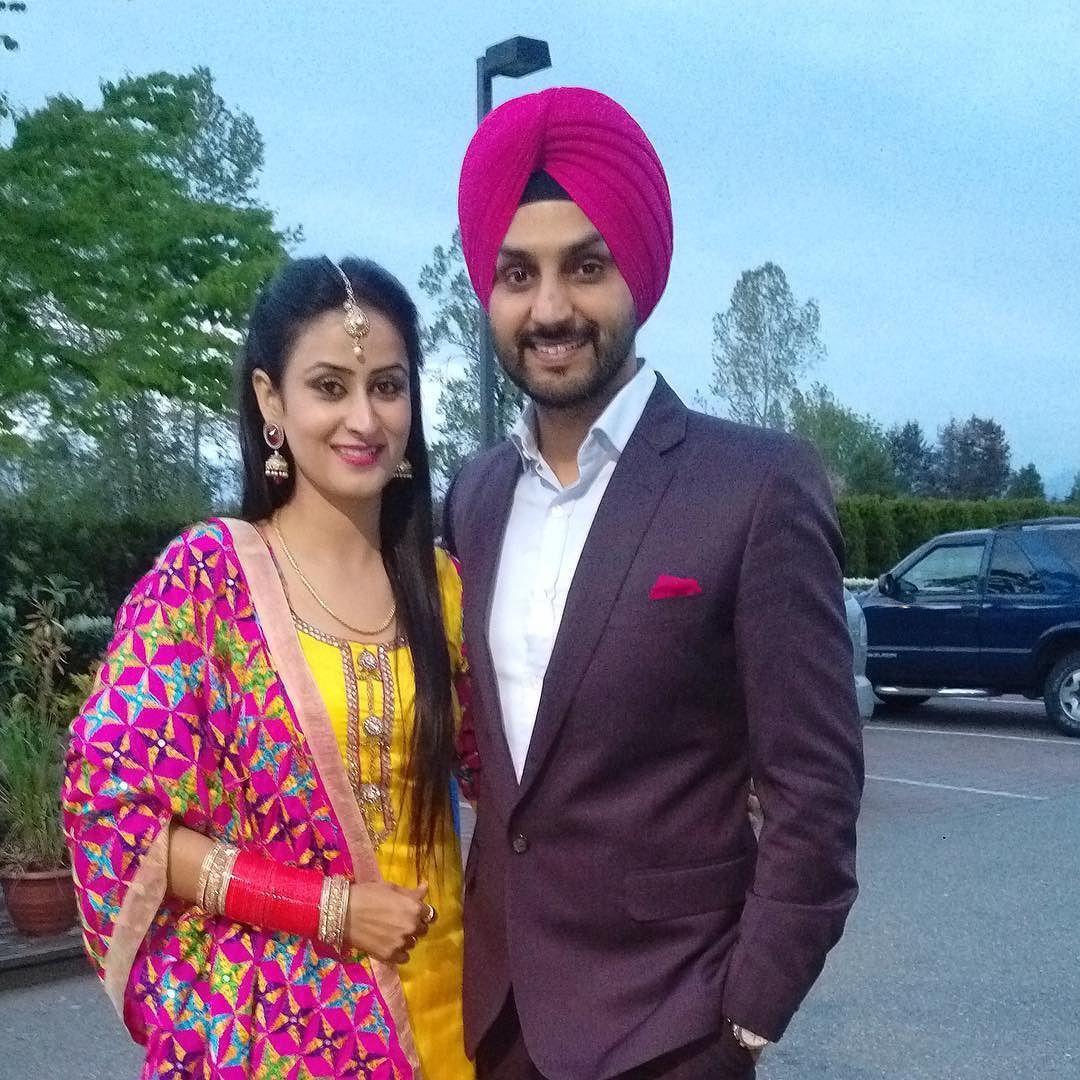 Before Surrey show with my love @jaspindercheema :) by gurjitsinghofficial