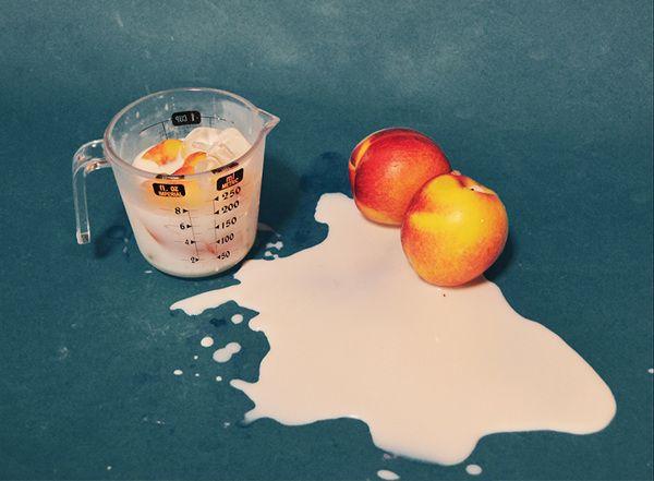 Nectarines + Coconut Milk - Dom Sebastian