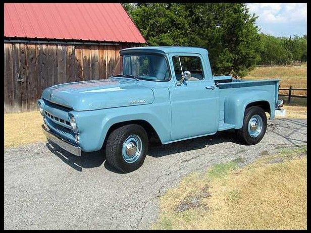 You Can Have Your 57 Chevy I Ll Take A 57 Ford F100 All Day Long Trucks Vintage Trucks Old Pickup Trucks