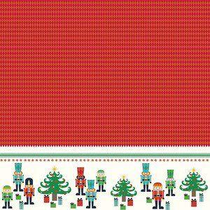 Riley Blake Designs - Nutcracker Christmas - Nutcracker Border in Red