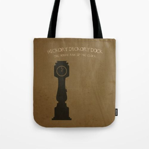 #Society6 #art #decor #DesignerTotebags Hickory Dickory Dock...