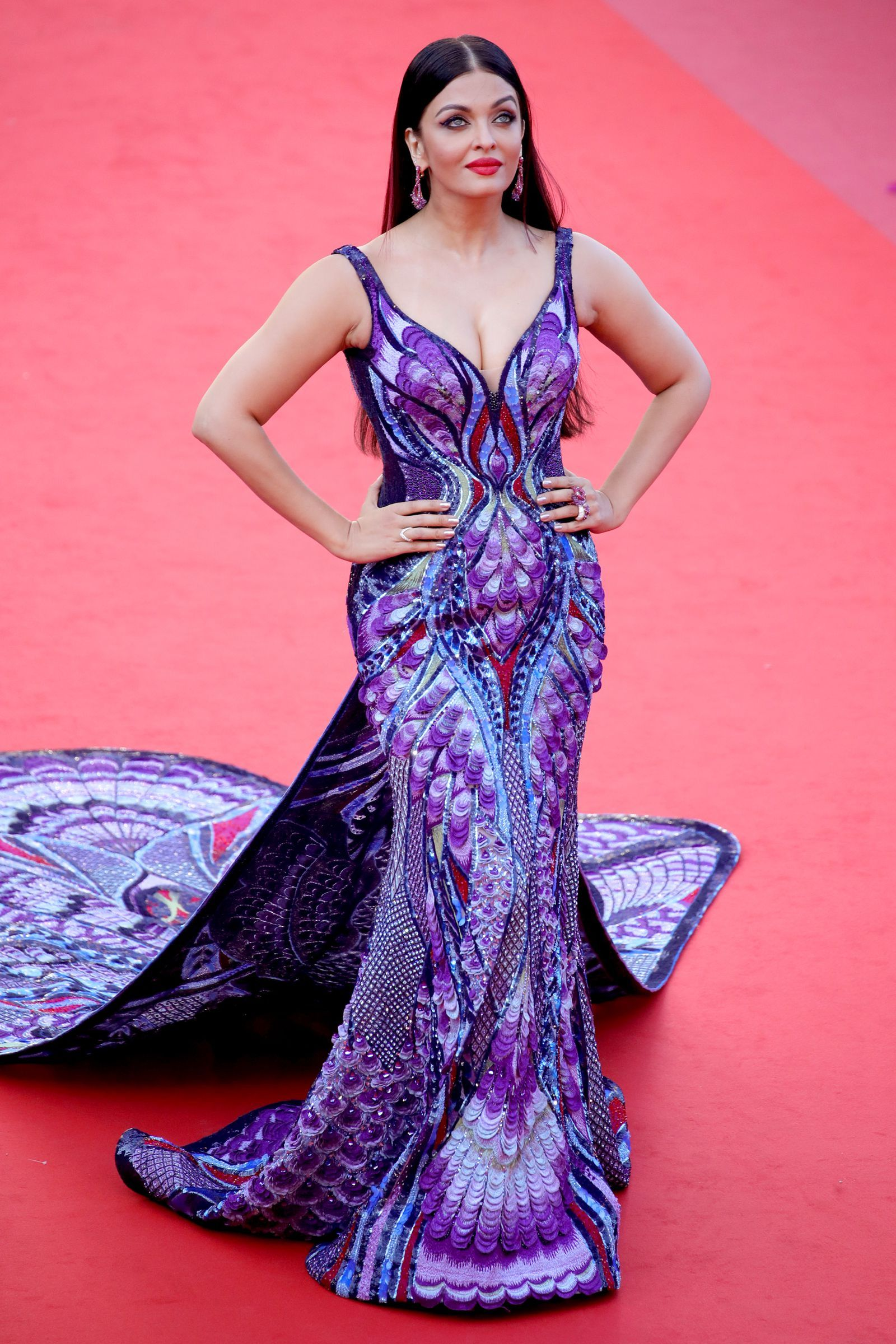 ec7ba5bcd71 Aishwarya Rai s Butterfly Dress at Cannes Took 3