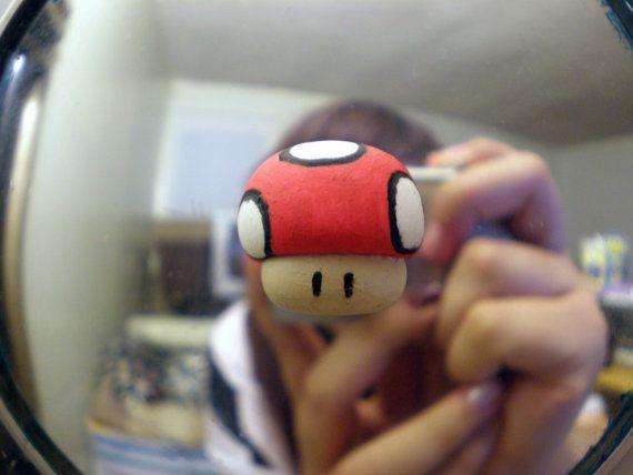 Nintendo mushroom totem by aivlys85 on Etsy, $5.00