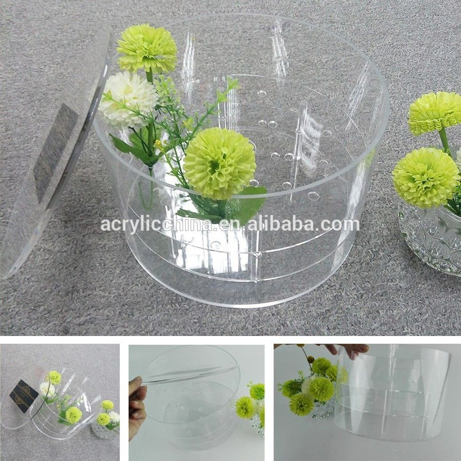 Custom design packaging box luxury flower box acrylicwholesale flower reviewsmspy