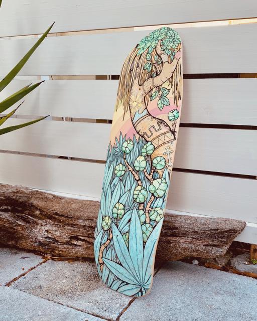 Jungle Coast Skateboard In 2020 Skateboard Deck Art Painted Skateboard Skateboard