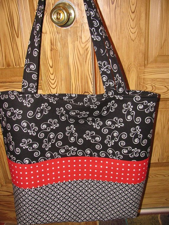 Extra large tote by sewleighmyown, $30.00