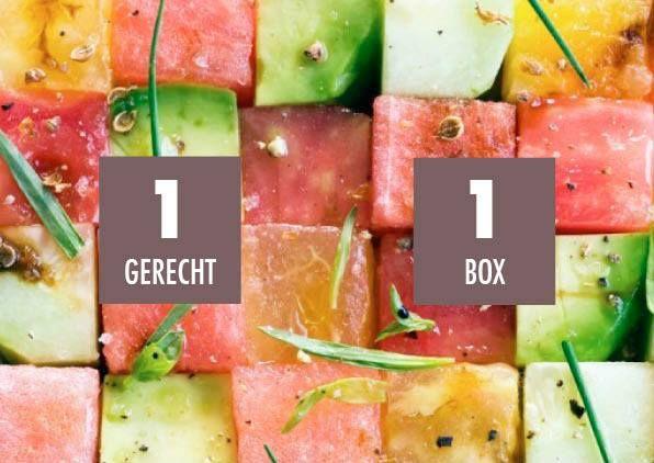 De essentie van onze Foodbox: 1 gerecht, 1 box! Alle ingrediënten zitten erin, mét handig stappenplan!