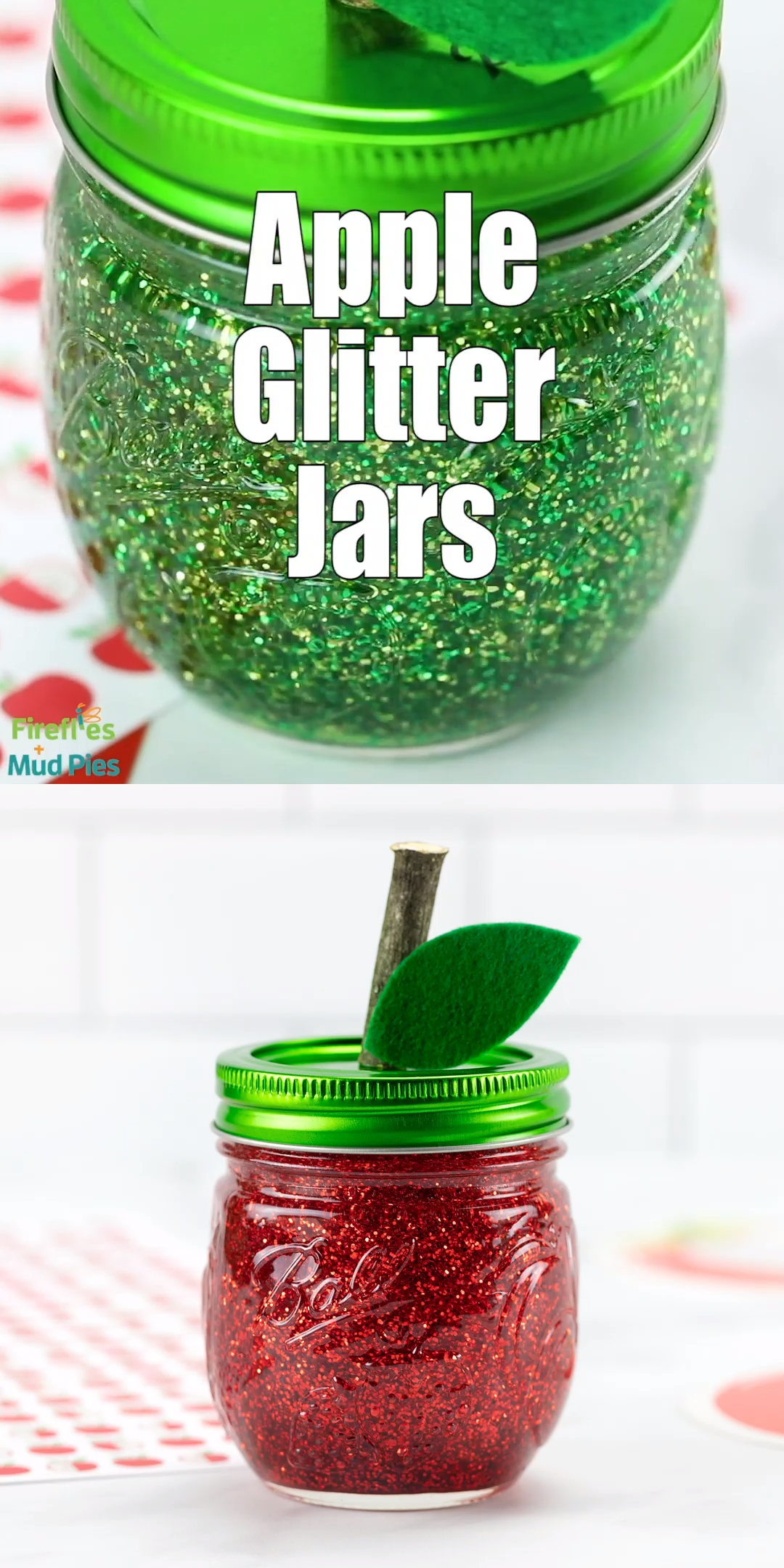 Photo of Apple Glitter Jars