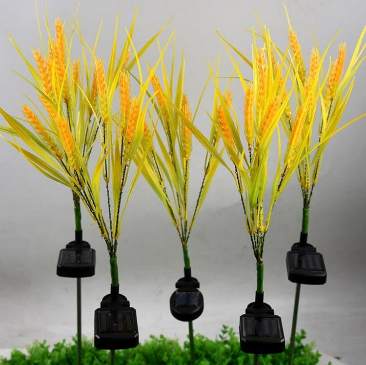 outdoor garden solar powered wheat led lights best
