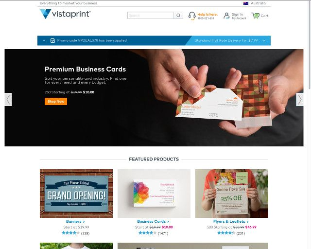 Vistaprint 100 Kostenlose Visitenkarten Promo Code In