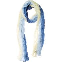 Photo of Wrinkle scarf scarf Xxl scarf blue natural white color gradient silk 180x90cm
