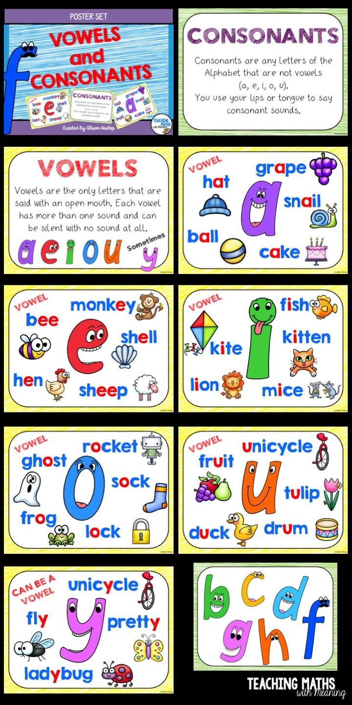 Pin By Arifiani Arifiani On Homeschooling Consonant Vowel Vowel Activities