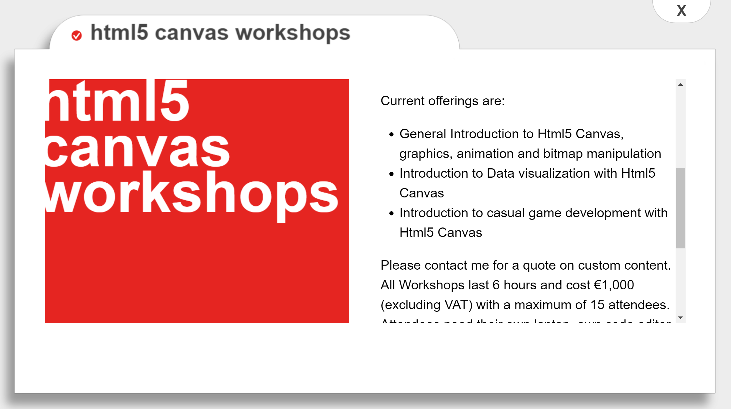 Clicking cards in the html5 Canvas Menu animate and open