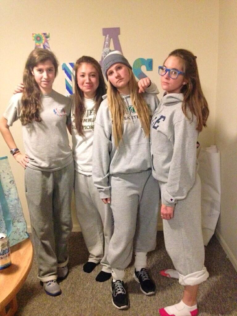 wearing Teen sweatpants girls