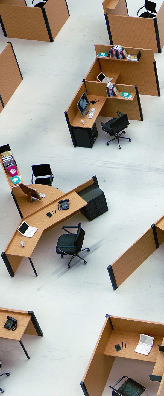 Una oficina con dise o tipogr fico benoit challand for Progettazione mobili 3d
