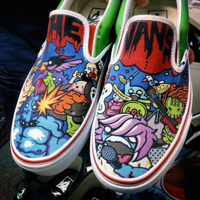 customize vans off the wall shoes