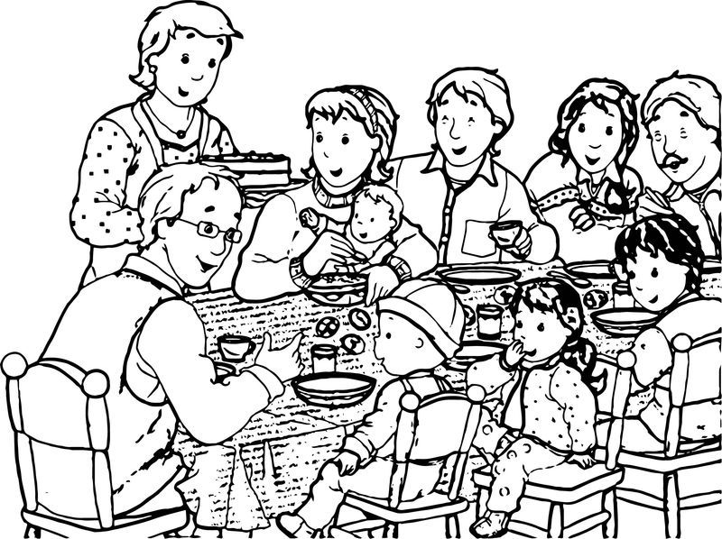 Caillou Family Parent Dinner Coloring Page Also See The Category