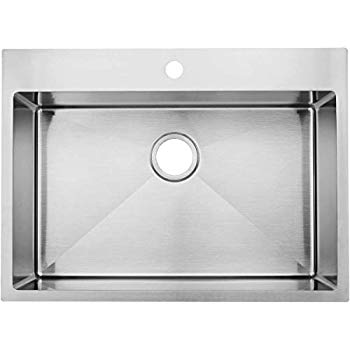 Lordear Lt2522r1 25 X 22x 10 Inch Drop In Topmount 16 Gauge R10 Tight Radius Stainless Steel Kitchen Sink Sing Drop In Kitchen Sink Stainless Steel Kitchen Sink