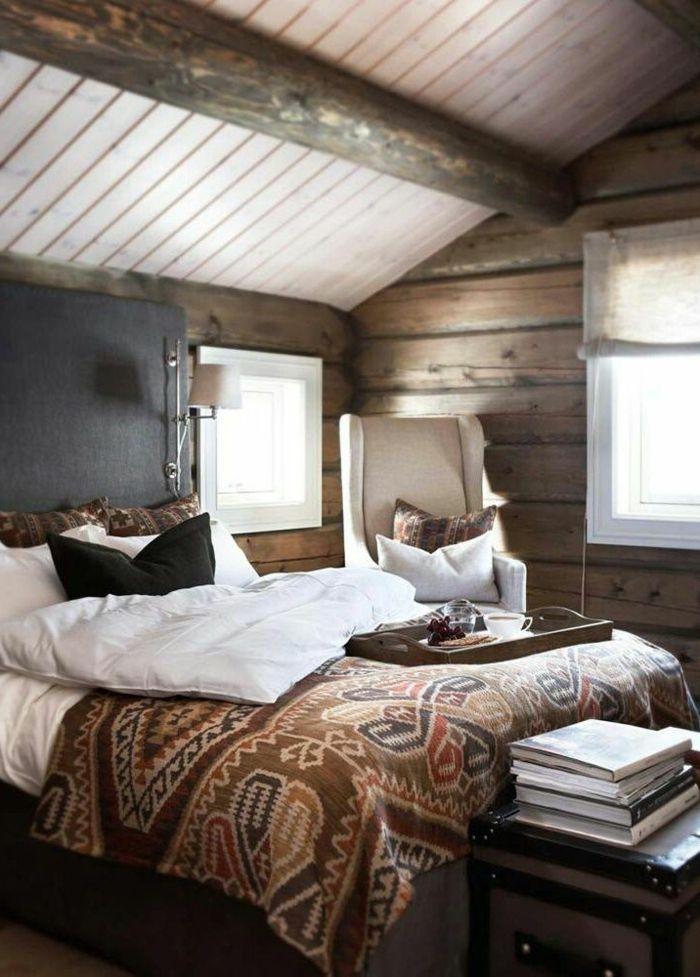 suite parentale de style rustique en bois massif deco chambre parentale