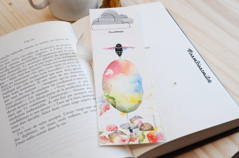 Marque Page L Automne Idee Cadeau Anniversaire Aquarelle
