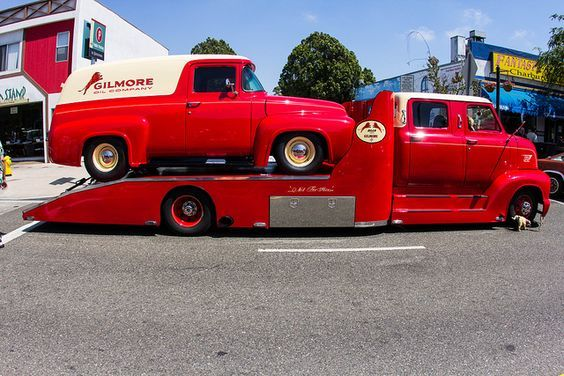 1953 Ford Cab Over Engine Coe Crew Cab Hauler With 1956 Ford F 100 Panel Truck Van Classic Trucks Panel Truck Cab Over