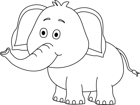 Black And White Cute Elephant Clip Art Black And White Cute Elephant Image Elephant Clip Art Cute Elephant Drawing Elephant Images