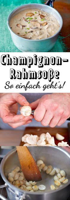 Photo of Champignon-Rahmsoße – so einfach geht's   LECKER
