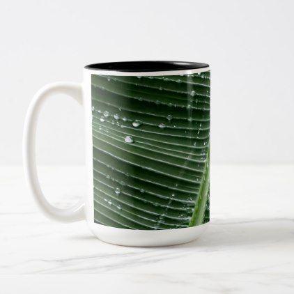 Rainforest Leaf Large Mug -nature diy customize sprecial design