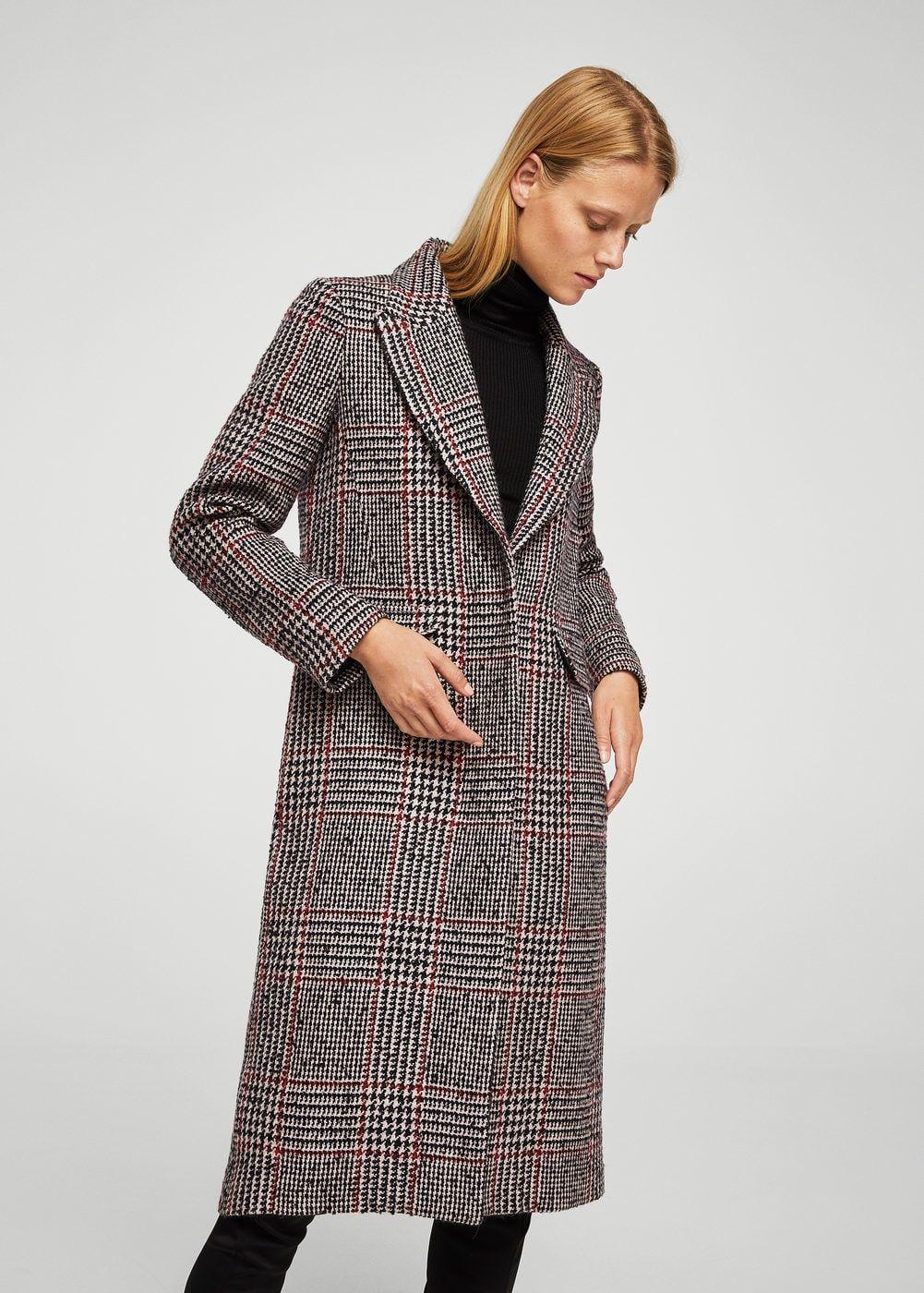 manteau carreaux en laine mango france manteau et patrons de robe. Black Bedroom Furniture Sets. Home Design Ideas