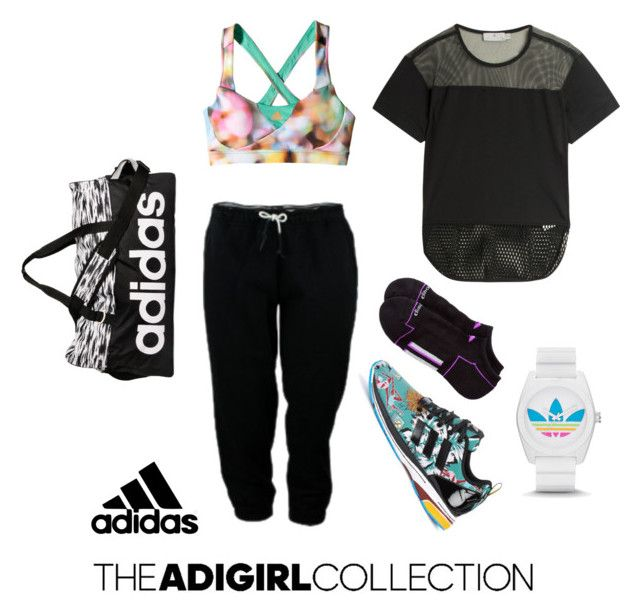 """""""Show Off Your adGIRL Style: Contest Entry"""" by iamdea ❤ liked on Polyvore featuring adidas and adigirl"""