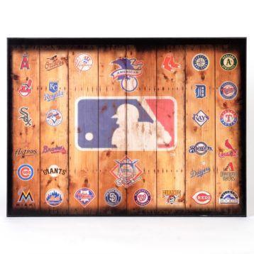 Mlb Wood Crate Plaque Kirklands Com 25oo Baseball Wall Decor