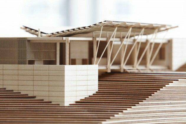 Maqueta y estructura maquetas pinterest modelos for Estructura arquitectura