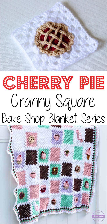 Crochet Cherry Pie Granny Square: Bake Shop Blanket Series   Mabel ...