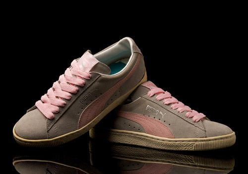 Puma Suede made in Taiwan (probably in 1980 s) in Grey Pink colourway. 4a3cd7d60