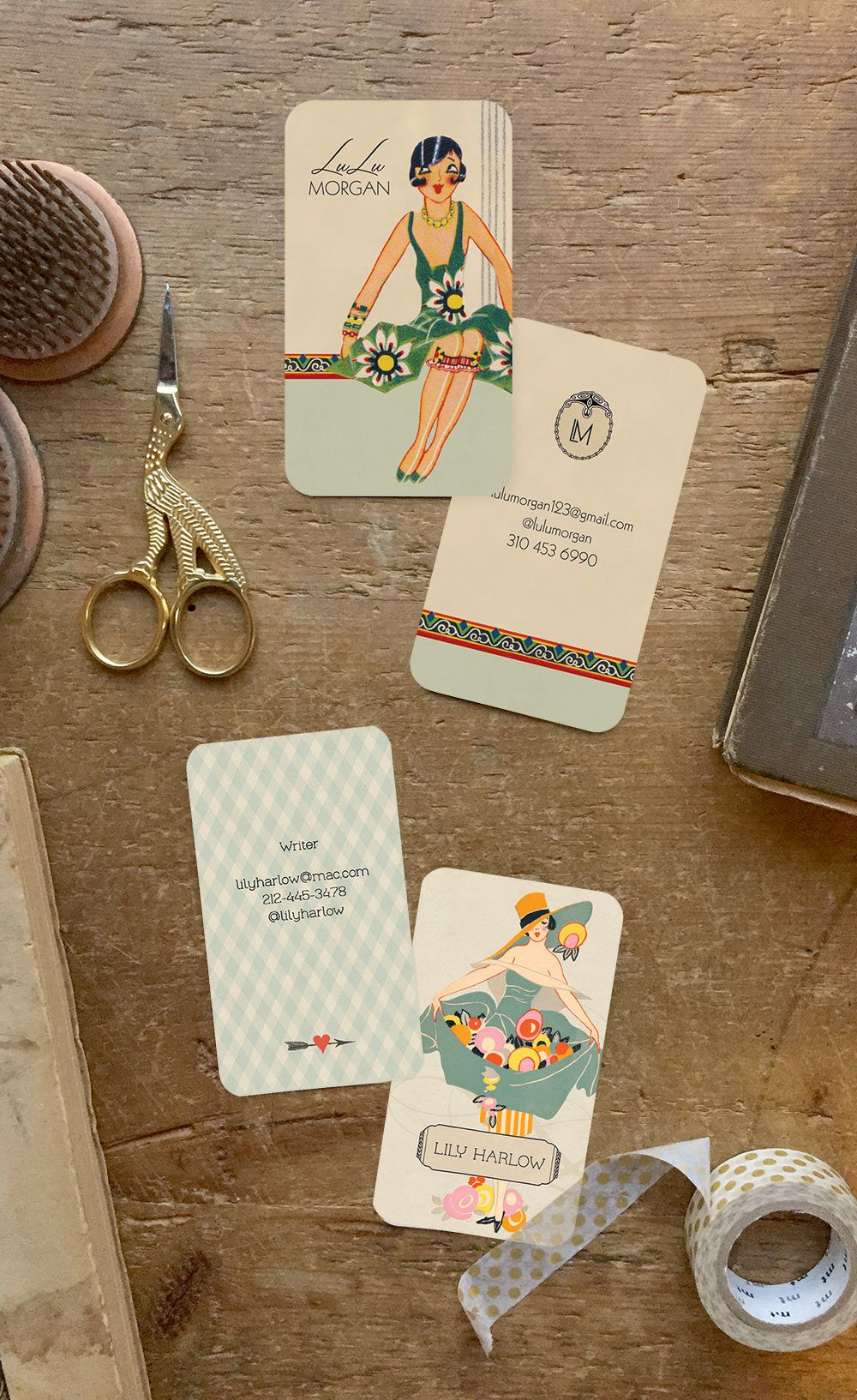 Art Deco business cards or calling cards custom for you from GoGoSnap! Can match…