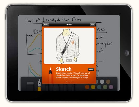 Paper The Ipad Sketchbook App From The Brains Of Courier Video