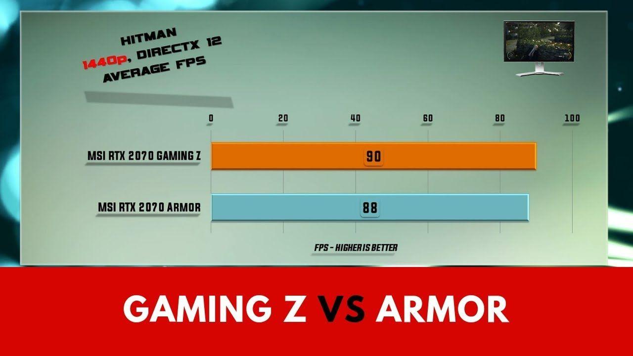 MSI RTX 2070 GAMING Z vs MSI RTX 2070 Armor Benchmarks | Gaming