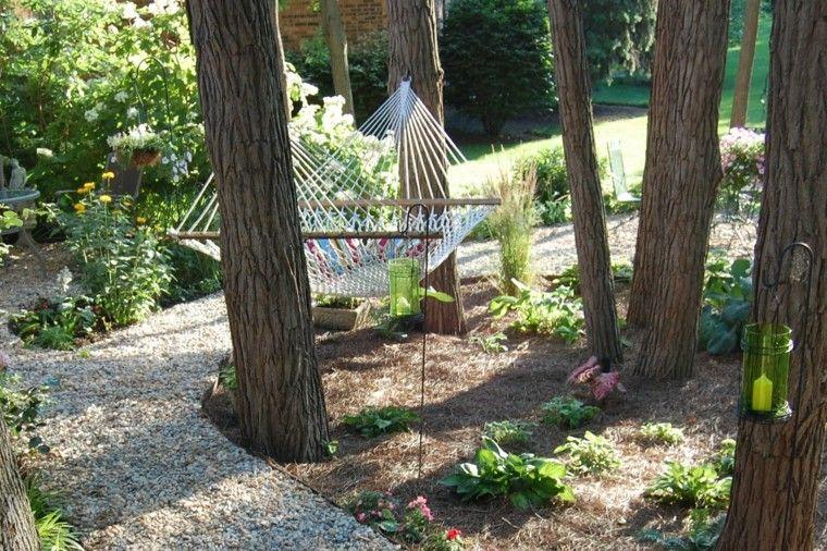 como diseñar un jardin hamaca arboles sendero Jardín Pinterest Un