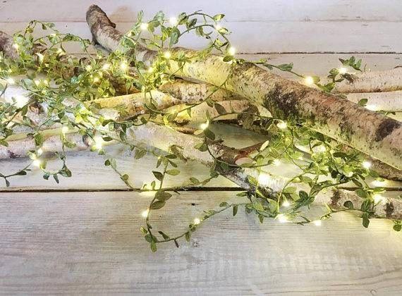 Woodland Wedding LED Leaf Fairy Lights / Woodland Artificial Leaf