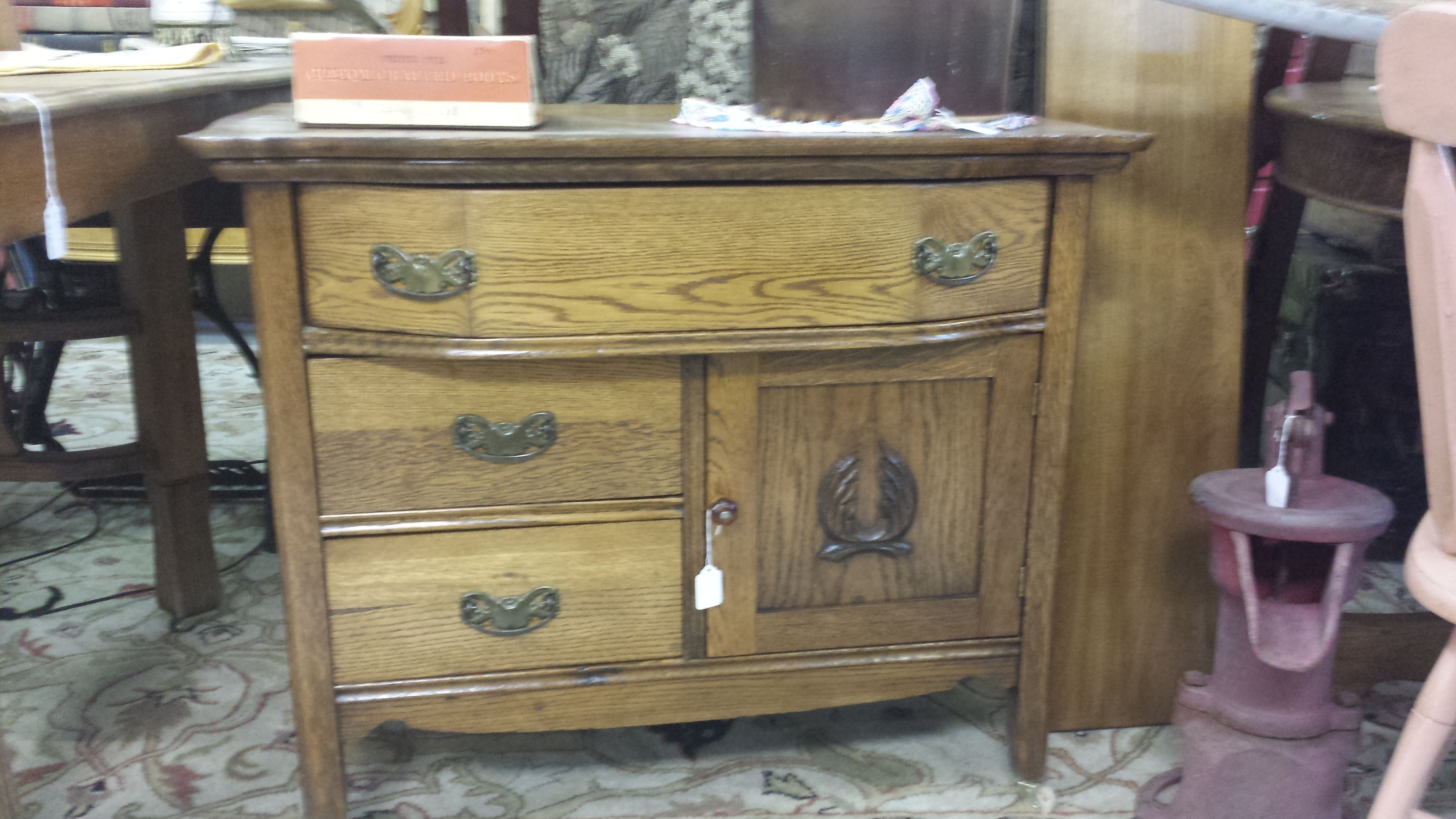 Antique Wash Stand With Chamber Pot
