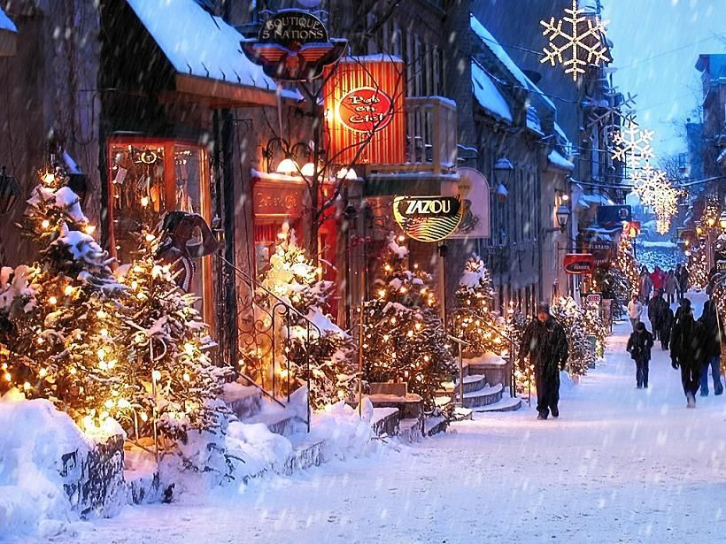 White Christmas In Canada.Quebec City Christmas Time Christmas Atmosphere Petit