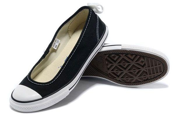6ce40365930cb8 Black Converse Summer Collection All Star Light Dainty Ballerina Ballet  Flat Low Canvas Women Shoes  converse  shoes