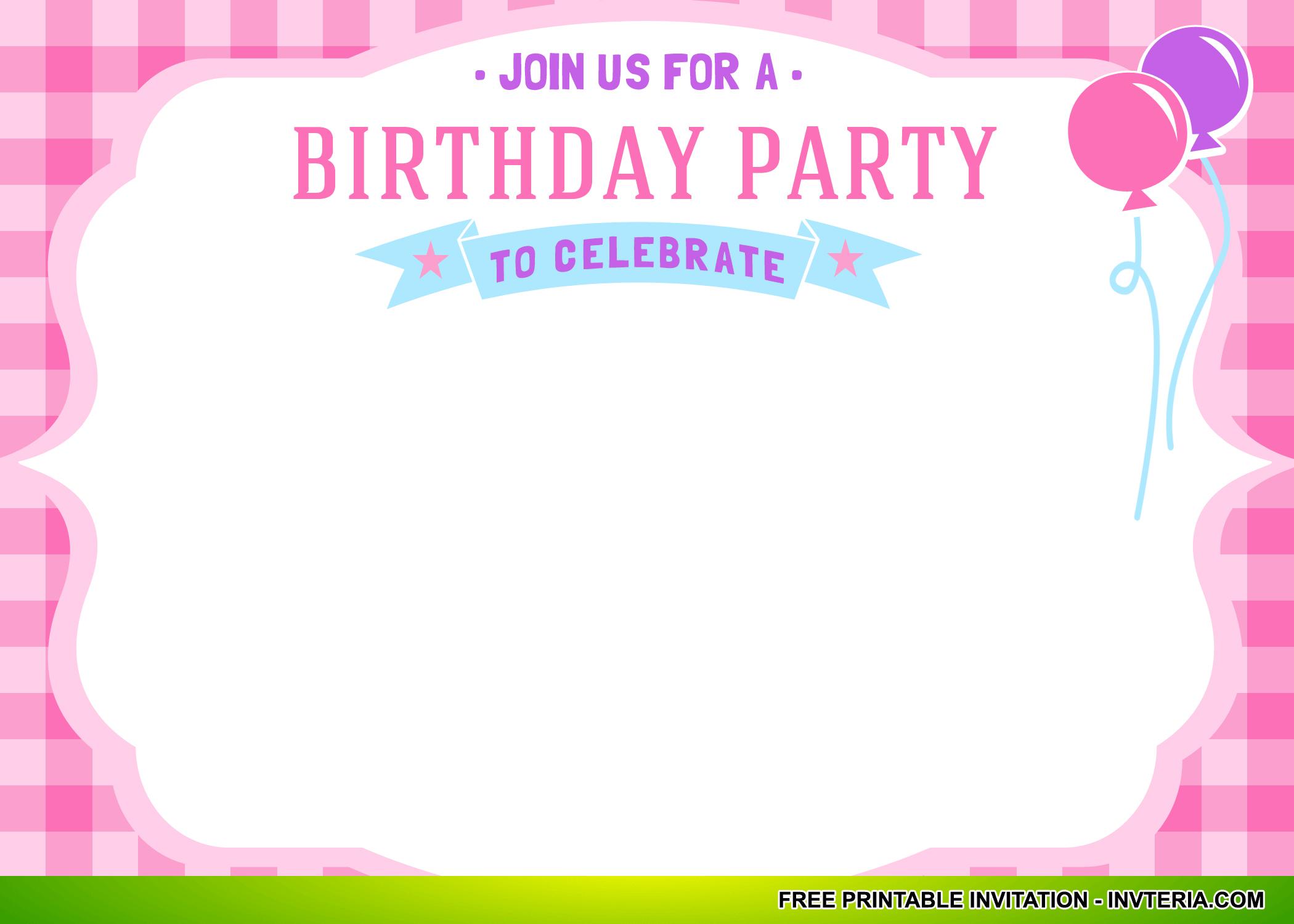 Nice Best Free Printable First Birthday Invitations Girl Idea