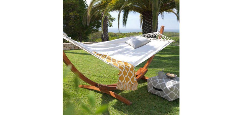 relaxliege garten modern, relaxliege ciara - beige/braun, modern, holz/textil (312/119/123cm, Design ideen